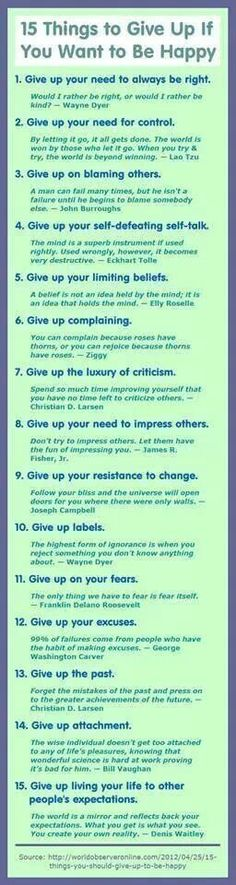 15 Things To Give Up If You Want To Be Happy happy life happiness positive emotions mental health confidence self improvement self help emotional health Rapid weight loss! The best method in Absolutely safe and easy! The Words, Motivational Quotes, Inspirational Quotes, Funny Quotes, Quotes Positive, Humor Quotes, Positive Attitude, Positive Thoughts, Positive Affirmations For Anxiety