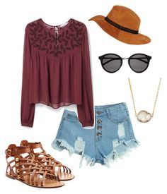 """""""Summer high"""" by peytonicholee on Polyvore featuring WithChic, MANGO, Valentino, Jules Smith, Black Rivet, Yves Saint Laurent, women's clothing, women, female and woman"""