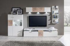 Obývačka TEGA / Living room TEGA (Biela arctic - Biela lakovaná vysoký lesk / White arctic - White HG)