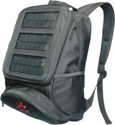 This is SOLZbag, a solar powered backpack that functions as a personal portable power station.
