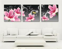 Rhinestone painting crystal Home Decor DIY Diamond painting triptych flowers cross stitch pattern diamond embroidery gift Outside Wall Decor, Cool Wall Decor, Large Canvas Wall Art, Canvas Art, Floral Painted Furniture, 3 Canvas Paintings, Decoupage Art, Home Decor Pictures, Panel Art