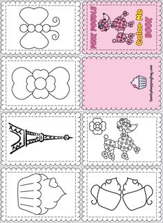 mini books coloring pages - photo#12