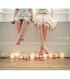 Beautiful Cotton Ball Lights at Lovely Interiors