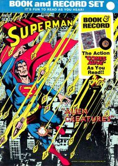 Power Records Book And Record Set Superman Alien Creatures Circa 1976