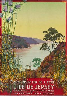 ✨ Georges Dorival (1879-1968) - L'lle de Jersey. Color Lithograph, Cornille & Serre, Paris
