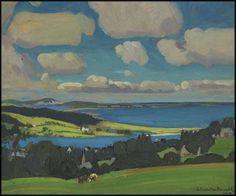 """Shores at Petite Rivière, Nova Scotia,"" James Edward Hervey (J.E.H.) MacDonald, oil on board, 8 1/2 x 10 1/2"", private collection."