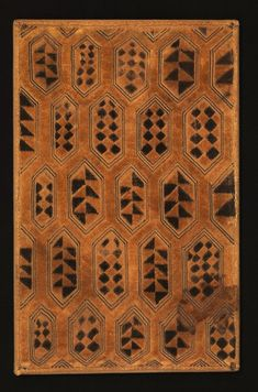 Shoowa man's status cloth. Raffia palm fiber, sten stitch and cut-pile embroidery.  Kuba Kingdom, DR Congo, late 19th or early 20th C.