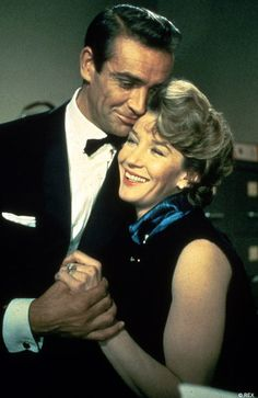 I love this Money Penny actress. 007 and Moneypenny (portrayed by Sean Connery and Lois Maxwell) in the 1962 Bond film 'Dr. No'