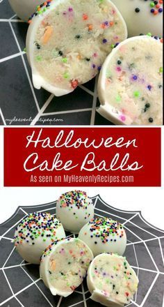 Grab the kids and a few ingredients for these Halloween Inspired Cake Balls. They are the perfect after school snack or dessert for your Halloween Party! cake pops Grab the kids and a few ingredients for these Halloween Inspired Cake Balls. Halloween Desserts, Postres Halloween, Halloween Cake Pops, Hallowen Food, Halloween Goodies, Halloween Food For Party, Halloween Christmas, Diy Halloween, Halloween Horror