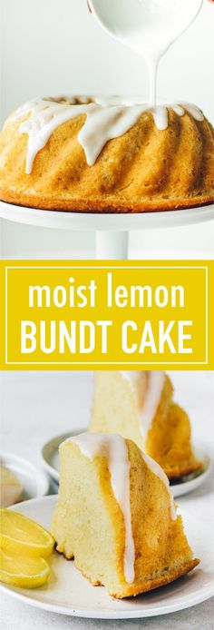 The best easy and moist glazed lemon bundt cake recipe. It's bursting with l… The best easy and moist glazed lemon bundt cake recipe. It's bursting with lemon flavor! It's simple to make and great as a morning or afternoon snack. Bunt Cakes, Cupcake Cakes, Cupcakes, Best Lemon Bundt Cake Recipe, Moist Lemon Pound Cake, Cake Recipes, Dessert Recipes, Desserts, Afternoon Snacks