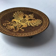 Antique Damascene metal plate, antique accessories, vintage accessories, vintage curiosities di Quieora su Etsy