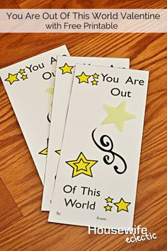 Housewife Eclectic: You Are Out Of This World with Glow In The Dark Stars and Free Printable