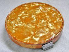 Vintage Compact Mirror Retro Orange Fold & by GrandVintageFinery, $16.00