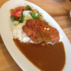 Pork katsu curry.