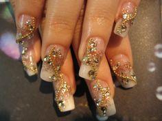 Acrylic Nail Art | Ideas for Wedding Nail Art : Beautiful Design Of Acrylic Nails With ...