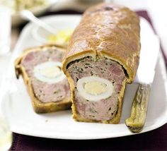 Pork and Ham Pie  aka Grosvenor Pie (pronounced grove-ner)  Absolutely perfect recipe! Beautiful slices in my lunch box/picnic hamper