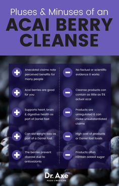 Acai berry cleanse pluses and minuses - Dr. Axe http://www.draxe.com #health #holistic #natural #diy