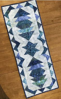 19in x 43in Wall Quilt Foundation Paper Piecing Pattern Spring