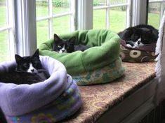 Cuddle Muffin Cat Beds Oh yeah! I made these. And they love em. ♥♥♥