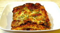 The Wolfe Pit: Lasagna Recipe - (Low Carb Recipe) - Noodleless La...