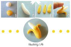 BlackBetty'sLab: Tutorial banana in pasta di zucchero !