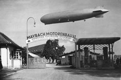 Zeppelin over Maybach Factory