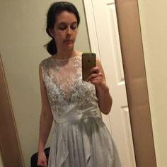 Sample sale / Silver grey wedding dress // Lobelia / Silk bridal gown, open back wedding dress, lace wedding dress, only one size Tulle Wedding Gown, Bridal Gowns, Lace Wedding, Wedding Dresses, Gothic Wedding, Floral Wedding, Open Back Wedding Dress, Gray Weddings, Boho