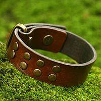 """""""rustic"""" leather bracelet"""