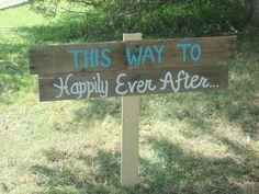 Wood pallet beach wedding sign