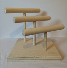 Wooden Bracelet Display, Three Tier Display for Jewelry, Craft Show Jewelry Stand, Bracelets, Craft Show Display, Jewelry Show Display by SRWoodcrafts on Etsy https://www.etsy.com/listing/222032919/wooden-bracelet-display-three-tier