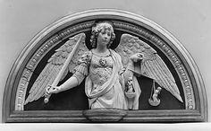 Saint Michael the Archangel, Andrea della Robbia, 1479. Florencia , Italia.