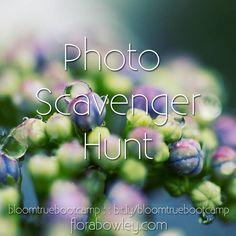Photo Scavenger Hunt #bloomtruebootcamp