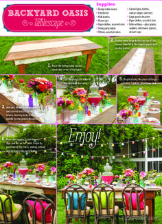 Create a backyard oasis for your next outdoor party with this how-to guide!