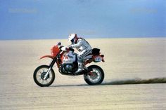 Gaston Rahier and his BMW GS