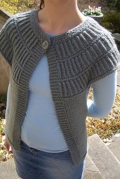 Free knitting pattern for Shalom Cardigan by Meghan McFarlane Short sleeve cardigan with triple yoke Knitting Patterns Free, Knit Patterns, Free Knitting, Free Pattern, Pattern Ideas, Diy Crochet Sweater, Crochet Shawl, Knit Crochet, Cardigan Pattern