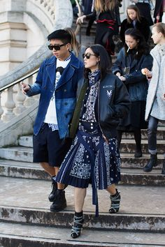 Thursday, May 5, 2016  Descending The Stairs….Grand Palais, Paris « The Sartorialist