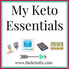 My essential tools that I use daily on the ketogenic diet including ketone blood monitor, food scale, ketone strips, coconut oil, stevia etc.