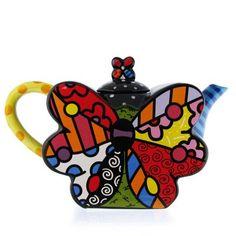 Romero Britto Butterfly Teapot