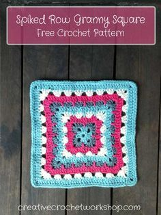 This Spiked Row Granny Square is the 2nd Afghan Block in the Crochet A Block Afghan 2017 Crochet Along! Free Crochet Pattern.