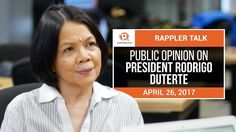 Rappler Talk: Public opinion on President Rodrigo Duterte - WATCH VIDEO HERE -> http://dutertenewstoday.com/rappler-talk-public-opinion-on-president-rodrigo-duterte/   Rappler talks to Pulse Asia Research Director Ana Maria Tabunda about President Rodrigo Duterte's trust and approval ratings, and the continued support of Filipinos for the war on drugs. Follow Rappler on Social Media: Facebook – Twitter – Instagram – YouTube...