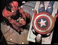 Iron Man and Captain America by Alex Maleev