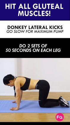 If you're at home and want quickly wake those glutes? You should try this donkey kick variation. You will definitely feel it! :)