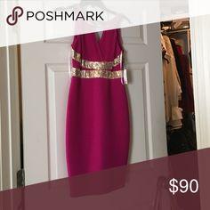Calvin Klein hot pink sequins nwt 2 Calvin Klein hot pink sequins nwt 2 Calvin Klein Dresses Midi