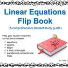 """Begin your linear equations unit with a """"bang"""" by having students make this comprehensive flip book.  It will serve as their companion as they lear..."""