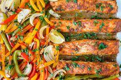 You're Going to Love these Clean Eating Sheet Pan Salmon Fajitas!