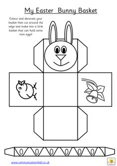 Easter basket template free pinterest easter baskets early play templates want to make a simple easter basket negle Image collections