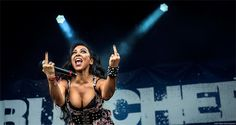 Carla Harvey - Butcher Babies at Chicago Open Air 2016 | ROCK: Front/Center Concert Photography