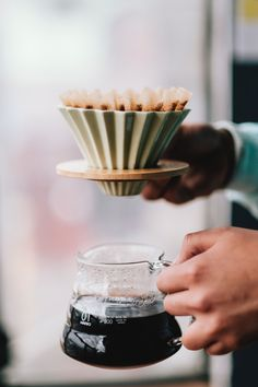 Fresh brewed coffee to start the day Coffee Brewing Methods, Pour Over Coffee Maker, Origami, Easy Coffee, Coffee Is Life, C'est Bon, Coffee Recipes, V60 Coffee, Taste Buds