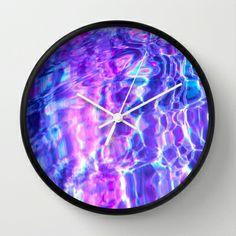 Midnight Swim Wall Clock by Nestor2 - $30.00