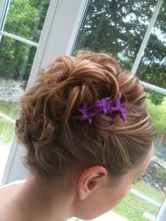 Short hair updo for bridesmaid. Hair by Fordham Hair Design  Wedding Bridal Hair Specialist